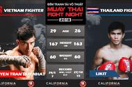 Nguyễn Trần Duy Nhất lần đầu tiên so găng cùng võ sĩ Thái Lan tại võ đài Thái Fight Night