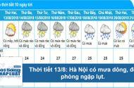 Tin tức - Dự báo thời tiết hôm nay 13/8: Hà Nội nắng nóng, có nơi trên 35 độ C