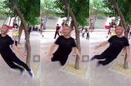 Tin tức - Video: Người đàn ông tập thể dục bằng cách treo cổ lên cây rồi xoay như chong chóng