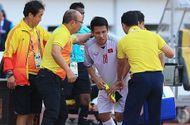 Tiền vệ Đỗ Dũng Hùng nhập viện ngay trong trận đấu với Olympic Nhật Bản