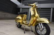 Tin tức - Cận cảnh chiếc xe Vespa Polini dát vàng giá hơn 1 tỷ đồng