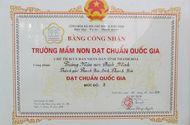 Chuyện học đường - Thanh Hóa: Trường mầm non Bình Minh đón nhận bằng công nhận đạt chuẩn Quốc gia mức độ II