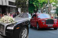 """Tin tức - Dàn siêu xe """"gây choáng"""" trong lễ rước dâu của Á hậu Thanh Tú"""