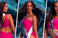 """Tin tức - Video: Điệu catwalk """"nham thạch"""" gây sốt của Hoa hậu Hoàn vũ 2018"""
