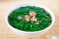Tin tức - Món ngon mỗi ngày: Canh cải cúc nấu thịt băm thơm ngon