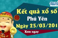 Trực tiếp kết qủa Xổ số Phú Yên hôm nay, thứ 2 ngày 25/3/2019