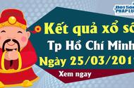 Trực tiếp kết quả Xổ số TP Hồ Chí Minh hôm nay, thứ 2 ngày 25/3/2019