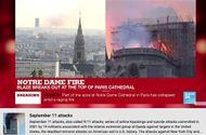 """Kinh doanh - YouTube mắc """"sai lầm tai hại"""" nhận nhầm vụ cháy Nhà thờ Đức Bà Paris thành khủng bố 11/9 tại Mỹ"""
