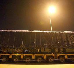 - Chùm ảnh: Cận cảnh 4 toa đầu tiên tàu đường sắt Cát Linh - Hà Đông về Hà Nội
