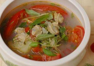 Món ngon bữa tối: Canh ngao nấu chua mát dịu bữa cơm hè