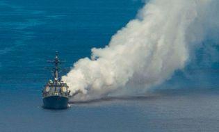 """Quân sự - Hải quân Mỹ thử nghiệm """"sương mù"""" Pandarra chống tên lửa TQ"""