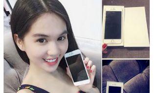 Ngôi Sao - Ngọc Trinh khoe ảnh sở hữu Iphone 6 plus đầu tiên
