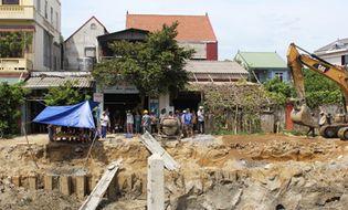 Miền Trung - Bảo vệ công trường bị điện giật chết khi kiểm tra máy bơm nước