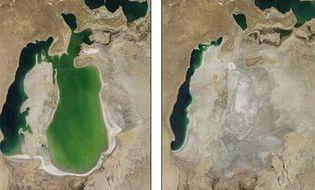 Khám phá - Sự biến mất gây sửng sốt của biển hồ lớn thứ 4 thế giới