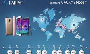 Công nghệ - Samsung công bố lịch phát hành Note 4