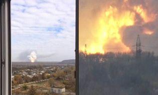Quân sự - Nhà máy hóa chất Donetsk phát nổ nghi do trúng tên lửa đạn đạo