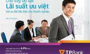 Tài chính - Doanh nghiệp - TPBank cho vay ưu đãi lãi suất ưu việt chỉ từ 4,9%/năm