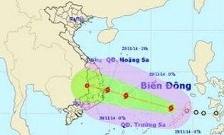 Sự kiện hàng ngày - Áp thấp nhiệt đới đã mạnh lên thành bão, đổ bộ vào Nam Trung Bộ