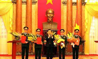 Xã hội - Chủ tịch nước phòng hàm Thượng tướng cho 4 cán bộ quân đội