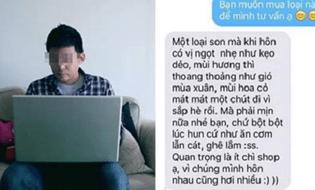 """Cộng đồng mạng - """"Cười sặc sụa"""" với loạt tin nhắn mô tả để mua son cho bạn gái của các chàng"""