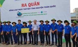 """Sống đẹp - """"Đại sứ Đại dương xanh"""" tham gia """"Chiến dịch Làm cho thế giới sạch hơn"""" tại Bình Thuận"""