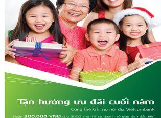 Tài chính - Doanh nghiệp - Vietcombank tặng 2 triệu đồng cho khách hàng sử dụng thẻ ghi nợ