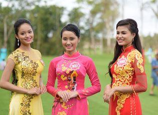 Thời trang & Làm đẹp - Hoa hậu Việt Nam 2014: Thí sinh diện áo dài hớp hồn người xem