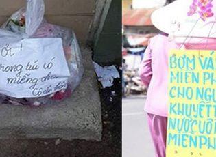 Cộng đồng mạng - Câu chuyện xoay quanh túi rác gây xúc động dân mạng