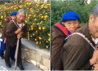 Gia đình - Tình yêu - Hạnh phúc chẳng ở đâu xa: cụ ông địu người vợ ốm yếu đi dạo phố mỗi ngày