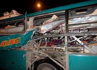 Tin trong nước - Hiện trường vụ nổ xe khách khiến 2 người chết, 12 bị thương ở Bắc Ninh