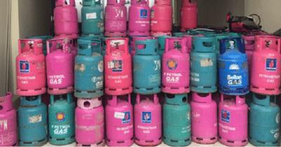 Thu giữ xe vận tải chở 130 bình gas giả nhãn hiệu nổi tiếng - ảnh 1