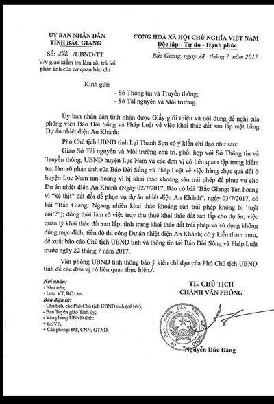 Khai thác khoáng sản trái phép tại Bắc Giang(?): UBND tỉnh chỉ đạo làm rõ thông tin báo chí phản ánh - ảnh 1
