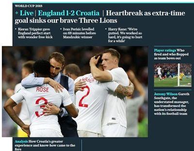 Truyền thông Anh nói gì về thất bại của đội nhà trước Croatia tại bán kết World Cup 2018? - ảnh 1