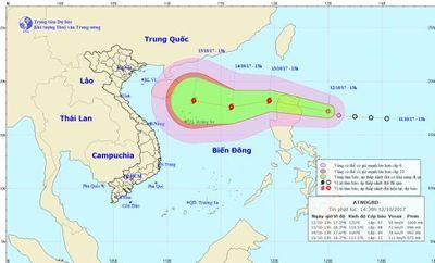 Dự báo thời tiết ngày 13/10: Áp thấp nhiệt đới liên tục tăng cấp - ảnh 1