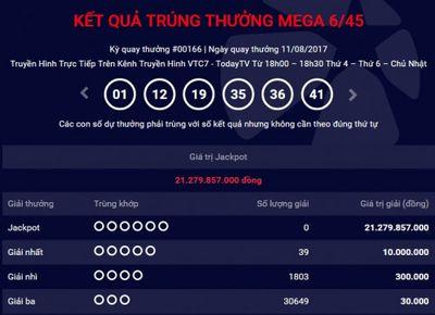 Kết quả xổ số điện toán Vietlott ngày 13/8: Giải Jackpot hơn 21 tỷ đồng đi tìm chủ - ảnh 1