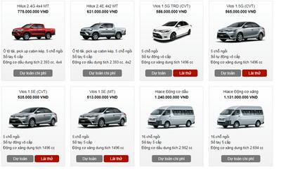 Bảng giá xe Toyota mới nhất tháng 3/2018 tại Việt Nam - ảnh 1