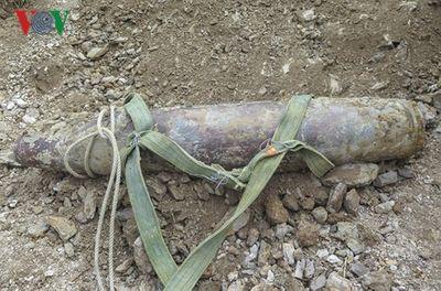Phát hiện quả bom nặng 150kg tại thành phố Điện Biên Phủ - ảnh 1