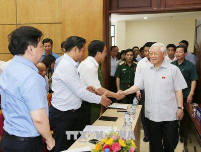 Tổng Bí thư Nguyễn Phú Trọng tiếp xúc cử tri Hà Nội - ảnh 1