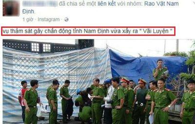 """Truy người phao tin """"thảm sát 8 người ở Nam Định"""" - ảnh 1"""