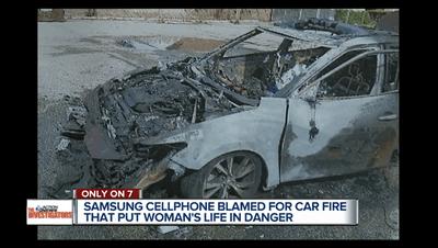 Samsung Galaxy phát nổ kinh hoàng, thiêu rụi nguyên chiếc ô tô - ảnh 1