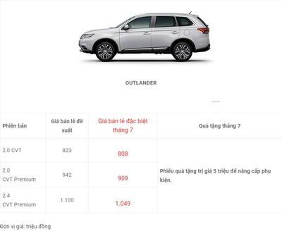 Bảng giá xe Mitsubishi mới nhất tháng 7/2018: Outlander giảm giá từ 15 – 51 triệu đồng  - ảnh 1
