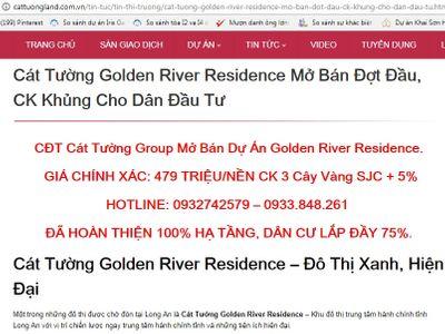 """Quảng cáo dự án """"ma"""" Golden River Residence, Cát Tường Group bị xử phạt - ảnh 1"""