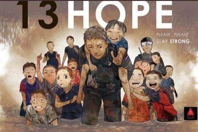 Những bức vẽ dễ thương mà ý nghĩa về cuộc giải cứu thần kỳ đội bóng Lợn Hoang - ảnh 1