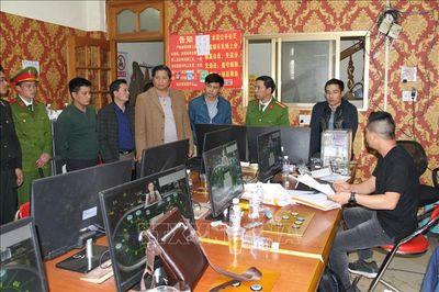 Lào Cai: Bắt hàng chục đối tượng người nước ngoài đánh bạc trá hình trò chơi điện tử - ảnh 1