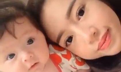Ngôi Sao - Clip: Elly Trần tập thể dục cùng con gái 2 tháng tuổi