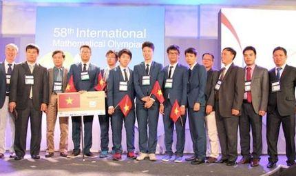 Chuyện học đường - Đội tuyển Việt Nam đoạt 4 huy chương vàng Olympic Toán quốc tế