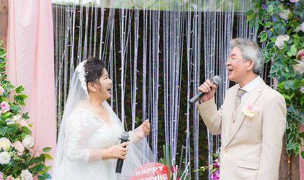 Tin tức - NSND Thanh Hoa lần đầu mặc váy cưới ở tuổi 67