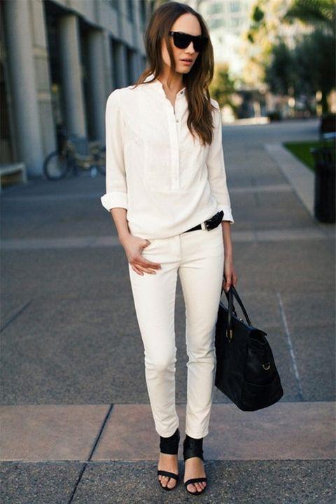 Biến hóa các cách mix đồ cùng áo sơmi trắng - Ảnh 2
