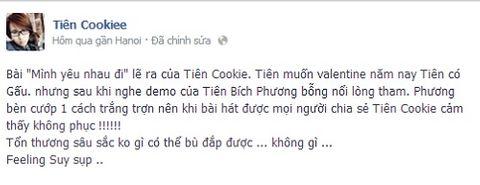 """Tiên Cookie """"tố"""" Bích Phương cướp bài hát """"Mình yêu nhau đi""""  - Ảnh 2"""