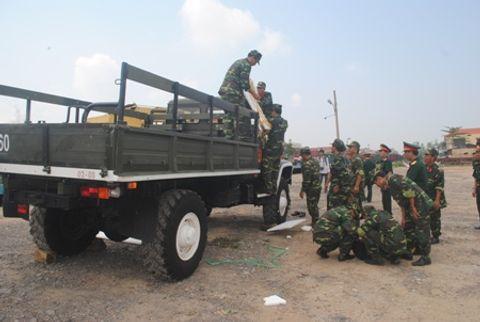 Hình ảnh đoàn xe quân sự phục vụ Lễ tang Đại tướng tại Quảng Bình - Ảnh 12